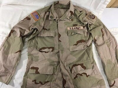 Desert Storm Shirt/ Jacket w/ Patches, Medium-Long,  US Army DCU