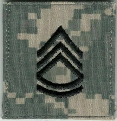 ACU US Army E-7 E7 Sergeant First 1st Class Rank VELCRO® BRAND Hook Fastener