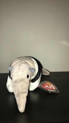 TY ANTS the ANTEATER BEANIE BABY - MINT with MINT TAGS AND TAG PROTECTED. RARE