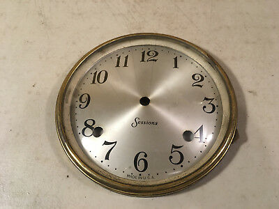 Vintage Sessions Banjo Clock Face with Bezel and Convex Glass for Parts / Repair