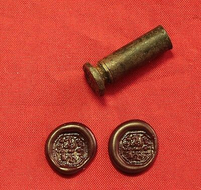 Late Medieval Seal, Wax Seal 18. Century