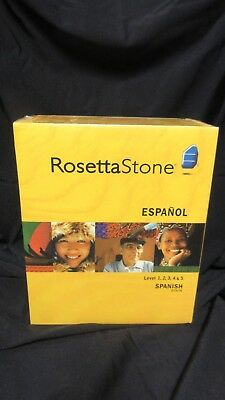 NEW Rosetta Stone Spanish (Spain) Level 1,2,3 4 & 5 - Version 3 Personal Edition