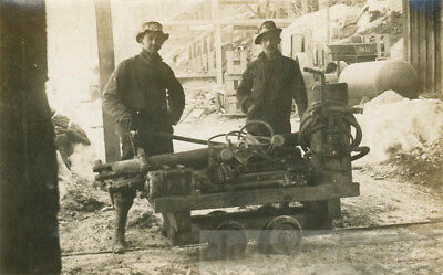 1904 Standard Mine Grant County Quartzburg Oregon Men Giant Drill