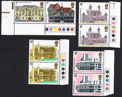 European Architectural Heritage Year Stamps - Pairs & Traffic Lights. 1975