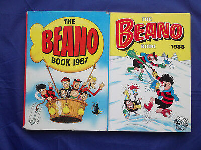 The Beano Book Annual 1987 & 1988 - Unclipped Price - Very Good Clean Condition