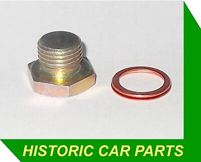 Water Jacket Drain Plug & Copper Crush Washer for Austin Morris Mini A 1960-74
