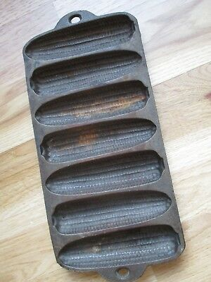 Vintage Cast Iron 7 Ear Corn Bread Muffin Pan Mold ~ ~ Made in USA