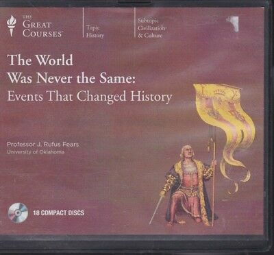 EVENTS THAT CHANGED HISTORY by THE GREAT COURSES ~ 18 CD'S 36 LECTURES