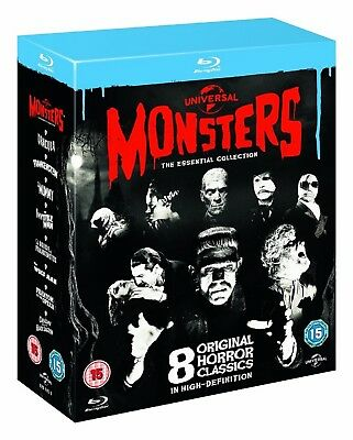 Universal Classic Monsters: The Essential Collection Box Set (8 Discs) (Blu-ray)