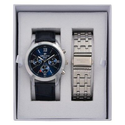 Minster 1949 MN-SET8 Mens Watch and Strap Gift Set