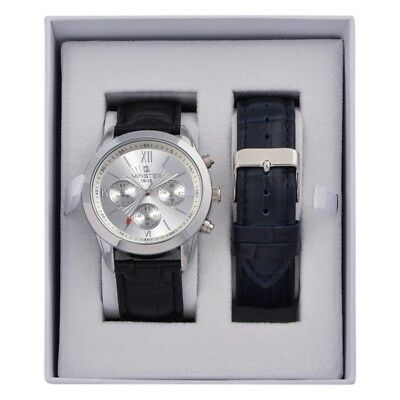 Minster 1949 MN-SET3 Mens Watch and Strap Gift Set