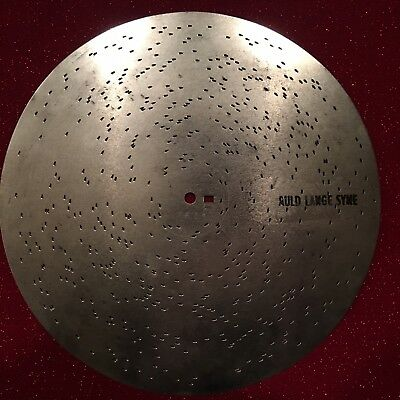"NEW Music Box Music Disc SYMPHONIUM ""AULDE LANG SYNE"" 10 5/8ths"