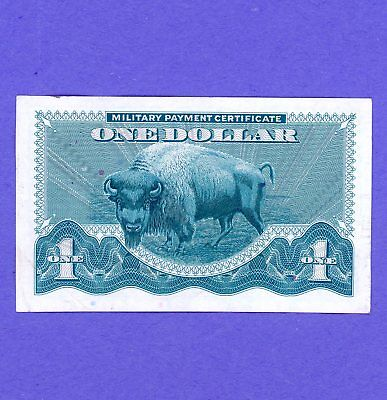 $1 Military Payment Certificate Series 692 BUFFALO NOTE CRISP  HIGH GRADE NOTE