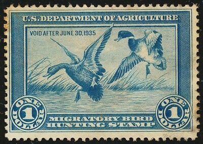 Dr Jim Stamps Us Department Of Agriculture Duck Scott Rw1 $1 Used No Reserve