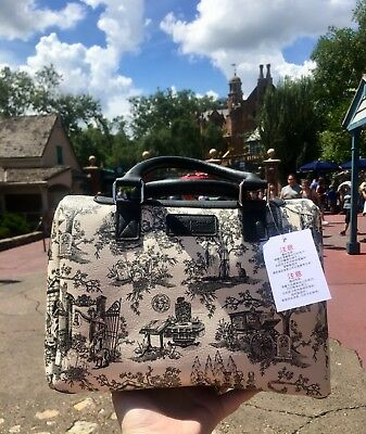 Disney Haunted Mansion Purse w/ Graveyard Character Print from Disney World