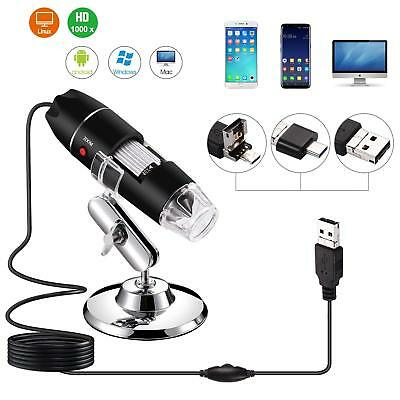 1000X 8-LED USB Digital Microscope Endoscope Magnifier Electronic Video Camera