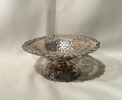 Fancy Antique Reticulated Silver Plate Bowl (England)