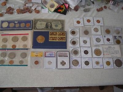 29 NGC,ANACS slabbed coin lot unc,gem bu,silver,Gold,Commemorative coin's