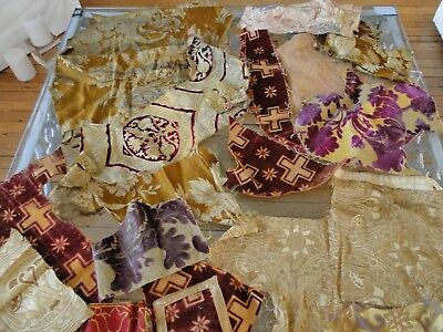 Antique Textiles - Assorted Early  Textile Fragments #1