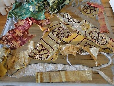 Antique Textiles - Assorted Early  Textile Fragments # 2
