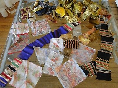 Antique Textiles - Assorted Early  Textile Fragments #  5