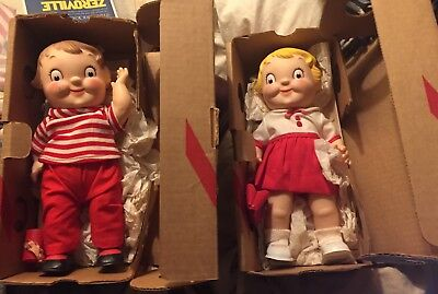 Two (2) Vintage Campbell Soup Kid Dolls : New in Original Boxes