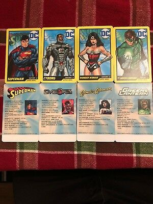 Dc Comic Arcade Card Super Hero Set Of 4 Rare Non Stamped Coin Pusher
