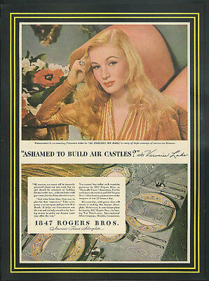 Veronica Lake in So Proudly We Hail for 1847 Rogers Bros Silverware ad 1943