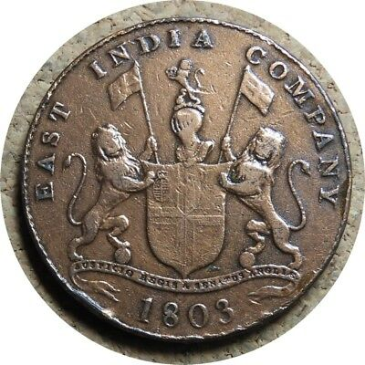 elf India Madras Presidency East India Co 20 Cash 1803
