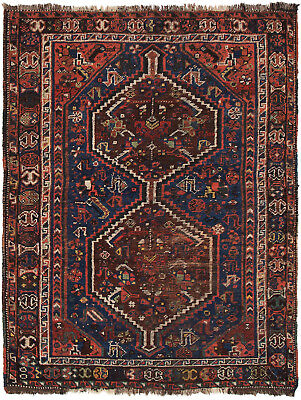 """Hand-knotted Turkish 3'7"""" x 5'0"""" Antique Shiravan Wool Rug...DISCOUNTED!"""