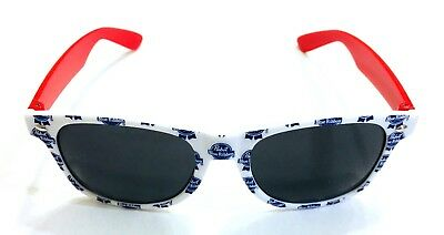 PBR Pabst Blue Ribbon Beer Branded Sunglasses Sun Glasses Pattern Repeated Logo