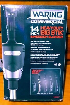 """Waring Heavy-Duty Big Stik Commercial 14"""" Variable Speed Immersion Blender"""