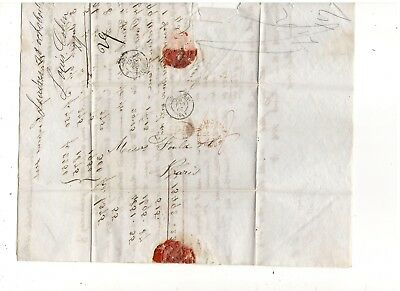 1862 Stampless Folded Letter, London To Paris