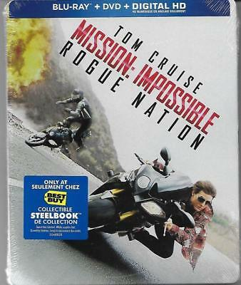 Blu-ray/DVD Steelbook: Mission Impossible 5 Rogue Nation (Best Buy Canada) New