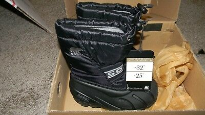 Sorel Youth/Kids/Toddler Cub Cold Weather Boot Black size 10