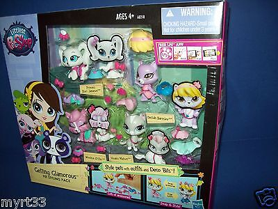 LITTLEST PET SHOP Getting Glamorous #3464 3465 3466 3467 new sealed accessories