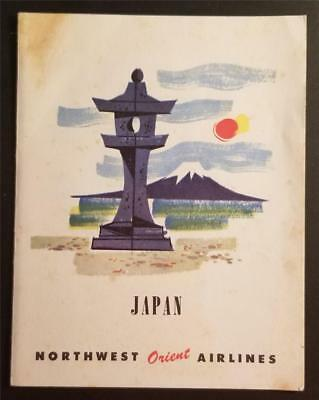 NORTHWEST ORIENT AIRLINES Japan Menu Postcard P123