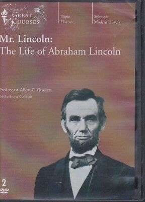 DVD ~ THE LIFE OF ABRAHAM LINCOLN by THE GREAT COURSES ~ 2 DVD's +PDF