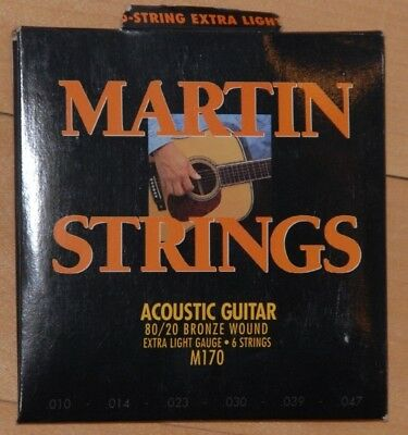 Martin M170 SP 80/20 Bronze Extra Light Acoustic Guitar Strings .010-.047