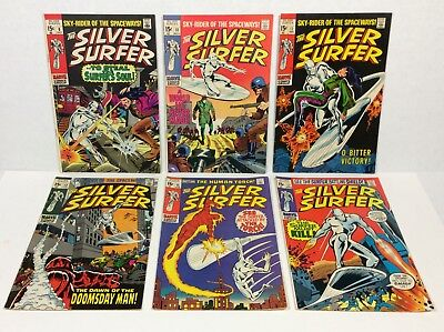 SILVER SURFER #9,10,11,13,15,17 LOT (6-issues, very nice comics!) 1969-70 Marvel