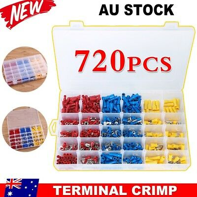 720Pcs Assorted Insulated Wire Connectors Automotive Marine Crimp Terminals AU