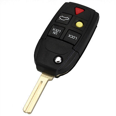 1Pcs Replacement 5 Button Key Fob Case Shell Fit for Volvo S80 S60 V70 XC70 XC90