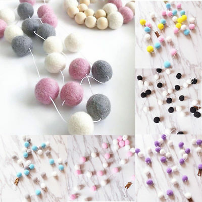Multi Colors Felt Ball Garland Bunting Banner Party Birthday Decor Pom Pom Kids