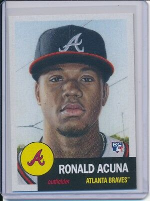 2018 Topps Living Set Ronald Acuna RC Rookie Card #19 Week 7 SP Atlanta Braves