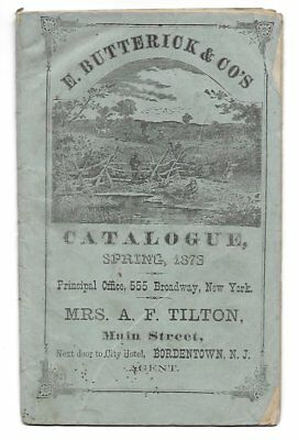 1873 Butterick & CO's Spring Catalogue