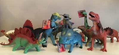 12 Piece Dinosaur Playset Toy Animals T Rex Triceratops Action Figures Set