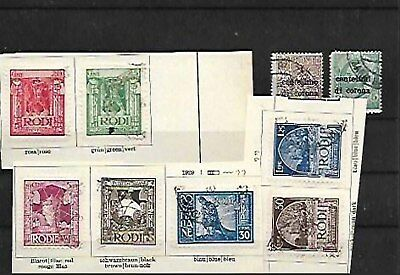 69922 / Italien ? Lot alte Briefmarken RODI