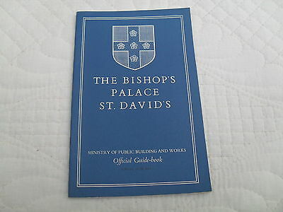 THE BISHOP'S PALACE, ST. DAVID'S PEMBROKESHIRE - Lovely old guide from 1953
