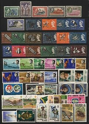 British Solomon Islands Collection Stamps Mostly Mounted Mint