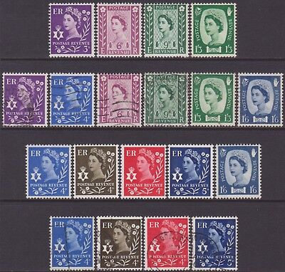 19 Different GB QEII 1958-1969 Northern Ireland Regional MNH MH & Used Stamps